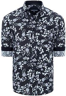 Tarocash Men's Oakbank Floral Print Shirt Regular Fit Long Sleeve Sizes XS-5XL for Going Out Smart Occasionwear
