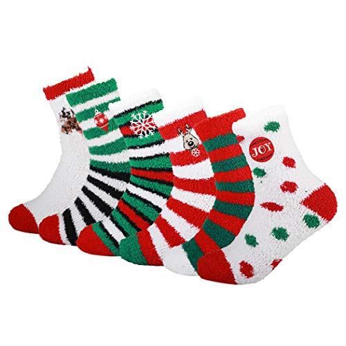 ZOYLINK Kuschel Socken, Flauschige Socken Bettsocken Damen Warme Wintersocken Damen Socken Haussocken (Mehrfarbig)