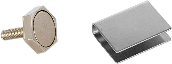 Eliga deurmagneet 22 mm met U-hechtplaat voor glazen deuren 8 mm