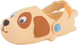 Hopscotch Yellow Bee Boys Resin Bee Puppy Clogs in Beige Color