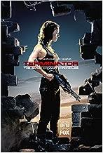 Terminator: The Sarah Connor Chronicles 8x10 Photo Lena Headey FOX Ad Through Hole in Brick Wall kn