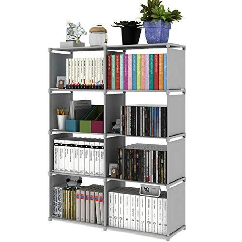 Metal Cube Bookcase 5 Tier Shelf Display Dvd Cd Furniture Storage Shelving...