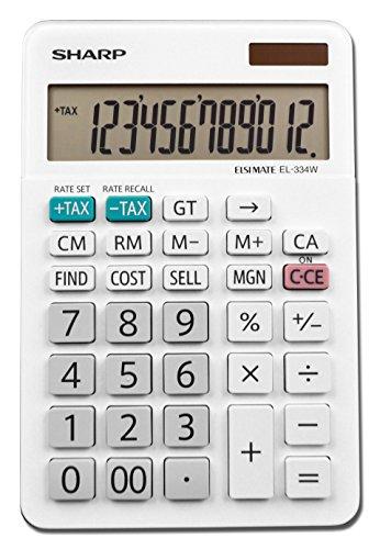 Sharp EL-334WB Business Calculator, White 4.0