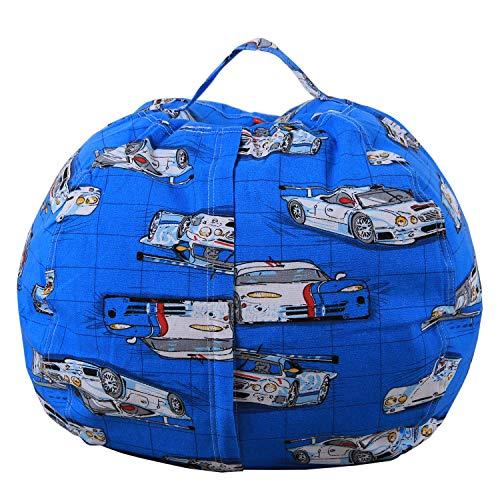 Lustig bedruckte youngshion Sitzsack KIDS Plüsch Spielzeug Canvas Stofftier Aufbewahrung Kleidung Quilts Organizer Soft Pouch Cover NEU Design, canvas, Autos, 96,5 cm