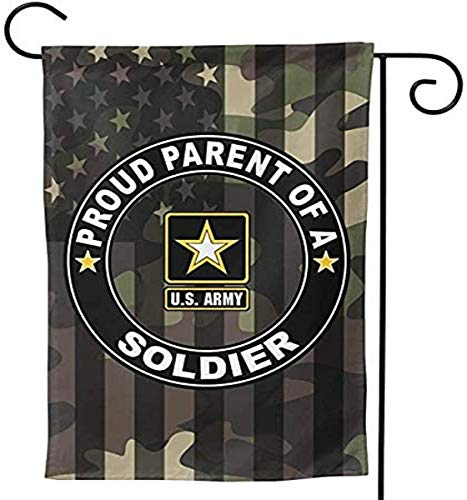 US MILITARY U.S. Army Proud Parent of A Soldier Flag Armed Forces Double-Sided Lawn Decoration Gift House Garden Yard Banner United State American Military Veteran, 12' x 18.5 Made in USA