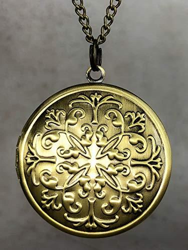 Medaillon mit Kette 70cm inkl. Fotoservice - Bronze - Handgefertigt