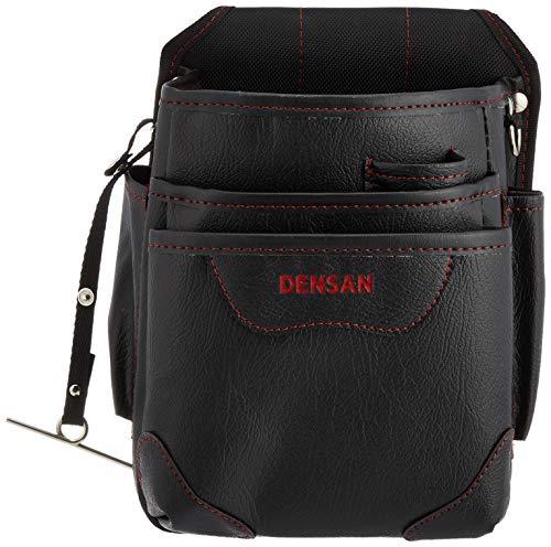 デンサン 腰袋 電工ハイポーチ ND-833H-SR ハイグレード ポケット3段式
