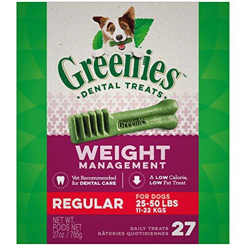 GREENIES Weight Management Dental Regular Dog Treats – Treat TUB-PAK Package 27 oz. 27 Treats