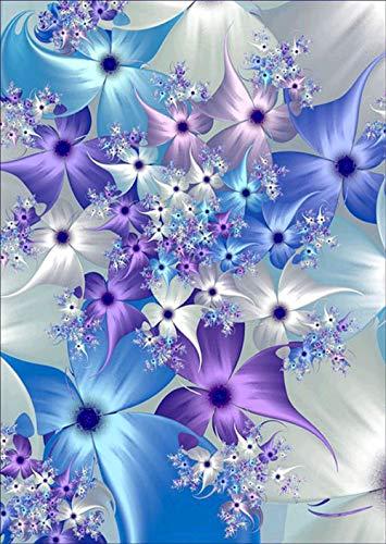 Kit de pintura de diamantes 5D para bricolaje,DIY pintura al oleo por numeros diseño de flores de ensueño con diamantes de imitación,cuadros punto de cruz kit 30 x 40 cm