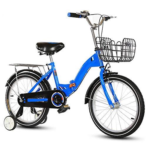 YumEIGE kinderfiets voor kinderen 16/18/20 inch kinderfiets jongens meisjes fietsen geschikt voor kinderen van 6 tot 16 jaar geel, blauw, roze verkrijgbaar