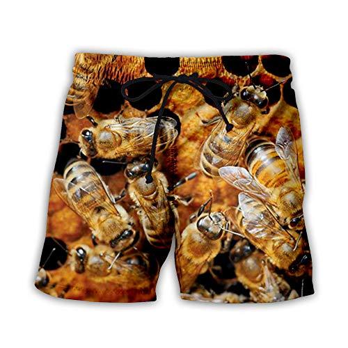 BRILIGHTEN Zwembroek voor heren, lange sneldrogende strandshorts met mesh voering Beachwear bij