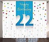 ABAKUHAUS Bunt Rustikaler Gardine, Feier-Konfetti, Schlafzimmer Kräuselband Vorhang mit Schlaufen und Haken, 280 x 260 cm, Mehrfarbig