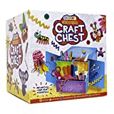 abeec Craft Chest - Craft Kits for Kids - All your Craft Supplies in one lockable craft chest - Includes Pipe Cleaners, Googly Eyes, Glitter Glue, Craft Paper and More