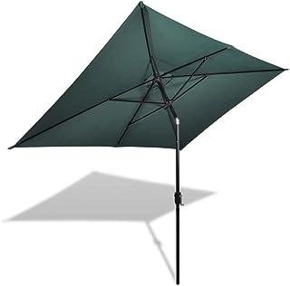 vidaXL Parasol 200x300cm Green Rectangular Outdoor Garden Umbrella Sunshade