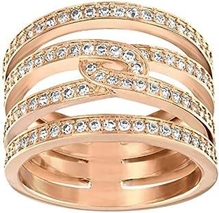 Swarovski Creativity Rose Gold Crystal Band Ring - Size 19 mm