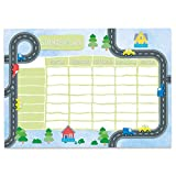 Papierdrachen Stundenplan DIN A4 Block - Motiv Straße - beschreibbar Schule oder Uni - Terminkalender und Wochenplan für Kinder
