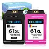 COLWOD 61XL ink cartridges Compatible With: DeskJet 2100, 1010, 1012, 1050, 1051, 1055,1056, 1510, 1512, 2000, 2050, 2510, 2512, 2514, 2540, 2541, 2542, 2543, 2544, 2646, 2547, 2548, 2549, 3000, 3050, 3054, 3510, 3511, 3512, 3516, 3050A, 3051A, 3054A...