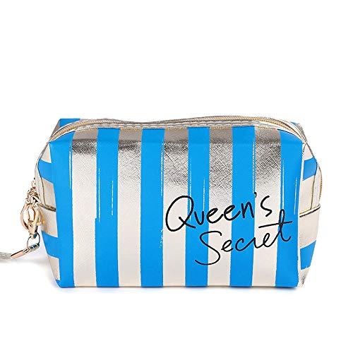 Sacs à cosmétiques Mode Cuir Femmes Make Up Bag PVC Pouch Wash Organisateur de Voyage Case 18.5 * 7.5 * 10.5cm-6_18.5 * 7.5 * 10.5cm