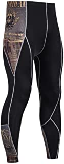 EUFANCE Men's Fitness Running Compression Base Layer Tights Pants Sports Workout Leggings
