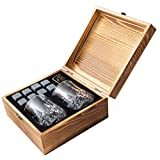 Whiskey Stones Gift Set – 8 Unique Granite Ice...