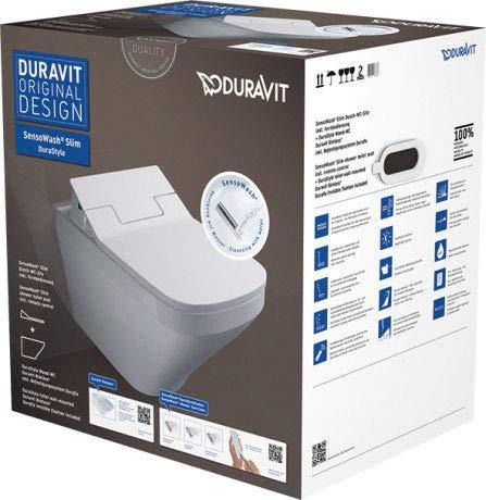 Duravit SensoWash DuraStyle–Set WC KB04SensoWash Slim 630x 475x 645
