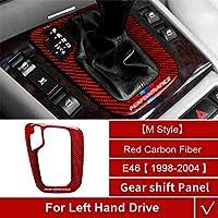 カーボンファイバーカーインテリア、BMW E46 1998-2004用3シリーズダッシュボード計器トリムセントラルコントロールフレームパネル収納ボックス