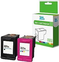 InkJello - Cartucho de tinta remanufacturado para HP Deskjet 1000 1010 1050 1050A All-in-One 1510 1512 1514 2050 2050A 2050s 2510 2512 2540 2542 2544 2549 AIO 301XLBK/C (negro/tricolor, 2 unidades)