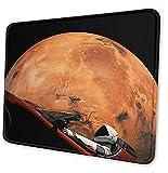 Alfombrilla de ratón antideslizante para escritorio de 8,3 x 10,3 cm en grande, diseño de órbita de Occupy Mars
