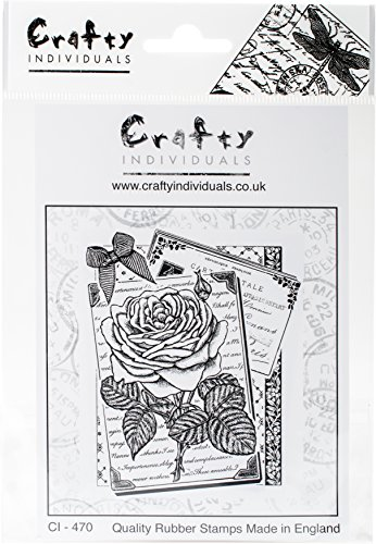 "Crafty Individuals Rambling Rose Unmounted Rubber Stamp, 4.75"" x 7"""