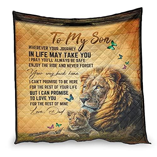 Colcha de verano para mi hijo Promise to love you papá, manta de viaje súper suave, ligera, para sofá cama, sala de estar, 150 x 200 cm