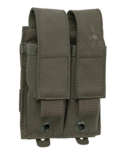 Tasmanian Tiger TT DBL Pistol Mag Pouch MKII Molle-System Doppel-Magazintasche für Pistolen kompatibel mit Glock SIG Beretta M9, Oliv