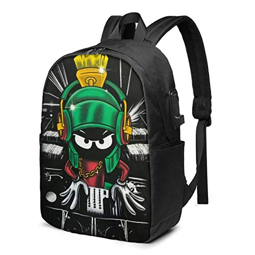 IUBBKI Bolsa para computadora mochila USB Men Women Packable Backpack with USB Charging Port, anti dirt Multi-function SchoolBag, Book Bags Daypack for Outdoor Running Business, Cartoons Anime Marvin
