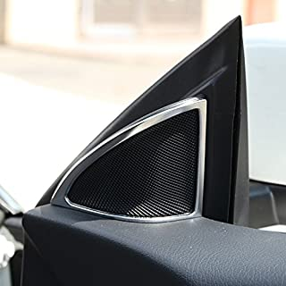ABS Door Audio Speaker Cover Trim For Mercedes Benz CLA 200 220 260 W117 C117 2015-2017