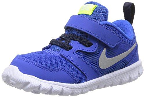 Nike Flex Experience 3 (TDV), Zapatos de Primeros Pasos Bebé-Niños, Negro/Plateado/Verde (Hypr CBLT/Mtllc Slvr-Obsdn-Vlt), 23 1/2