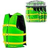O'Brien 4 Pack General Purpose Life Jackets, Green/Yellow