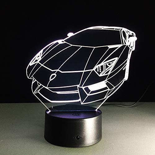 Luz Nocturna de Color Holograma de Coche Deportivo iluminación del hogar decoración de Dormitorio lámpara de Mesa de Escritorio máquina de Regalo de Coche Ventilador Mejor Regalo