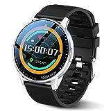 LEMFO Smartwatch da uomo con schermo tattile da 1.3', IP68, impermeabile, con 24 modalità sportive, fitness tracker con misurazione della pressione sanguigna, contapassi per iOS e Android