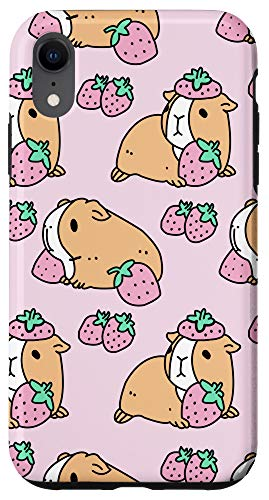iPhone XR Guinea Pig Strawberries Guinea Pig Lover Gift Case Case