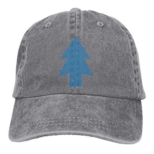 Hoswee Unisexo Gorras de béisbol/Sombrero, Dipper's Pine Cowboy Cap Adjustable Dad Baseball Hats Gray