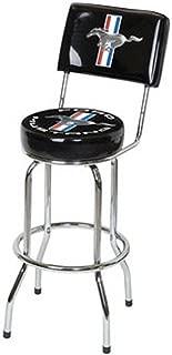 Mustang bar Stool W/Backrest - Black