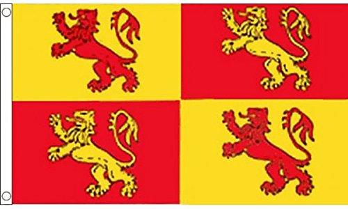UKFlagShop 1,5 x 0,9 m (150 x 90 cm) Owain Glyndwr du Pays de Galles 100% polyester Drapeau Bannière Idéal pour pub Club école Festival Business Décoration de fête