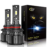 CougarMotor LED Bulbs All-in-One Conversion Kit - 9006-10000Lm 6000K...