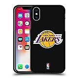 Head Case Designs Oficial NBA Claro Los Angeles Lakers 2 Funda de Gel Negro Compatible con Apple iPhone X/iPhone XS