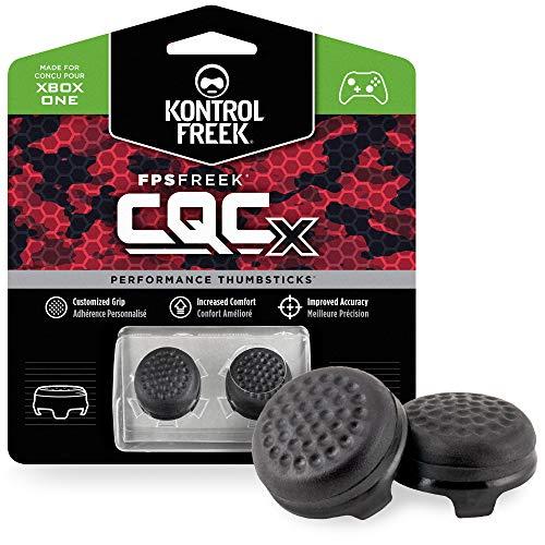 KontrolFreek CQCX Performance Thumbsticks for Xbox One 2 Mid-Rise Convex Thumb Grips Black