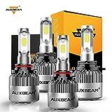 Auxbeam 9005 9006 Combo Led Bulb Kit, 9005 HB3 9006 HB4 LED Fog Light Bulbs Combo (2 Sets) 16000lm 6000K White, Pack of 4