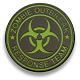 Applicable Pun Zombie Outbreak Response Team Glow in The Dark Enamel Pin - Lapel or Fabric Pin
