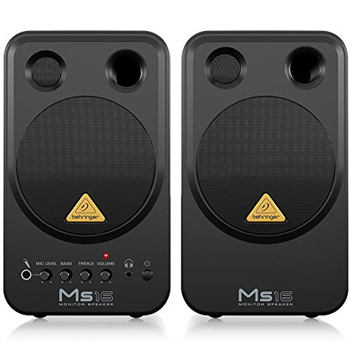 Why Choose Behringer MS16 High-Performance Active 16-Watt Personal Monitor System,Black