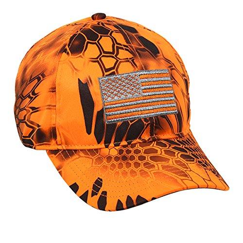 Outdoor Cap Mens Kryptek Patriotic Cap, Kryptek Inferno, One Size Fits Most