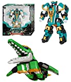 Dinocore 2018 Evolution 2 Mega D-Fighter Krono Transforming Dinosaur Kronosaurus Toy from Robot Green Color (Single Product)