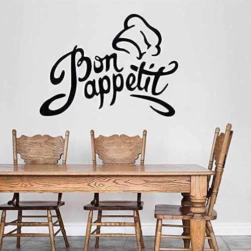 Etiqueta de la pared artista decoración del hogar cocina restaurante restaurante vinilo ventana calcomanía arte Chef sombrero Mural
